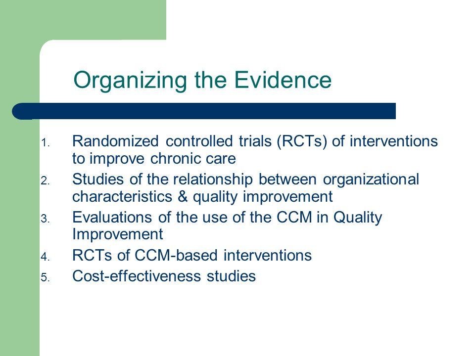 Organizing the Evidence 1.