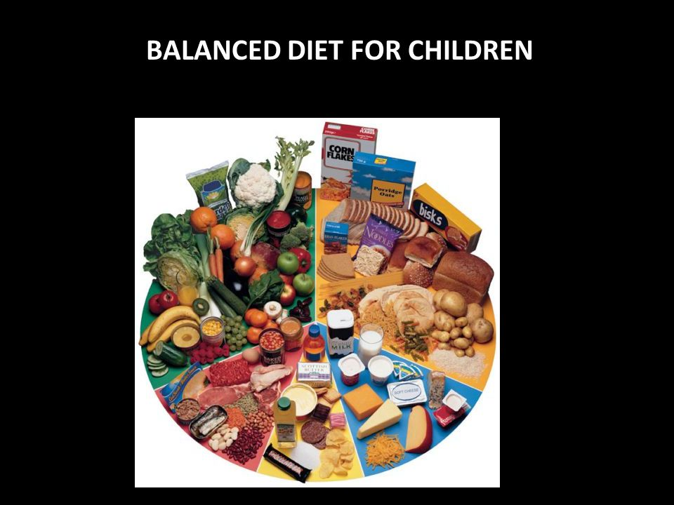 BALANCED DIET FOR CHILDREN