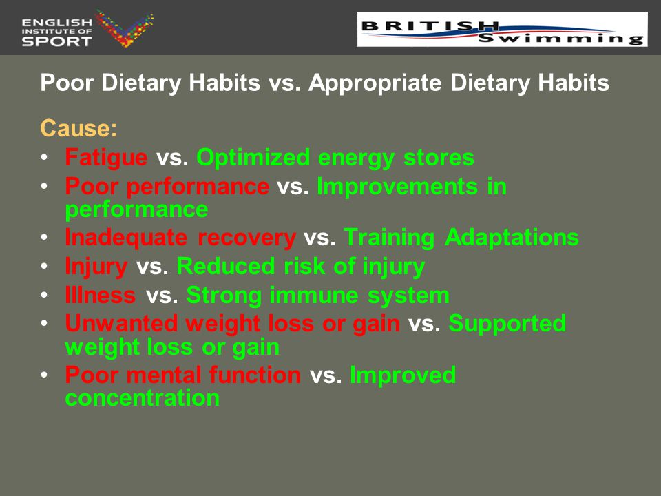 Pre-Training/Event Feeding Why is it Important.