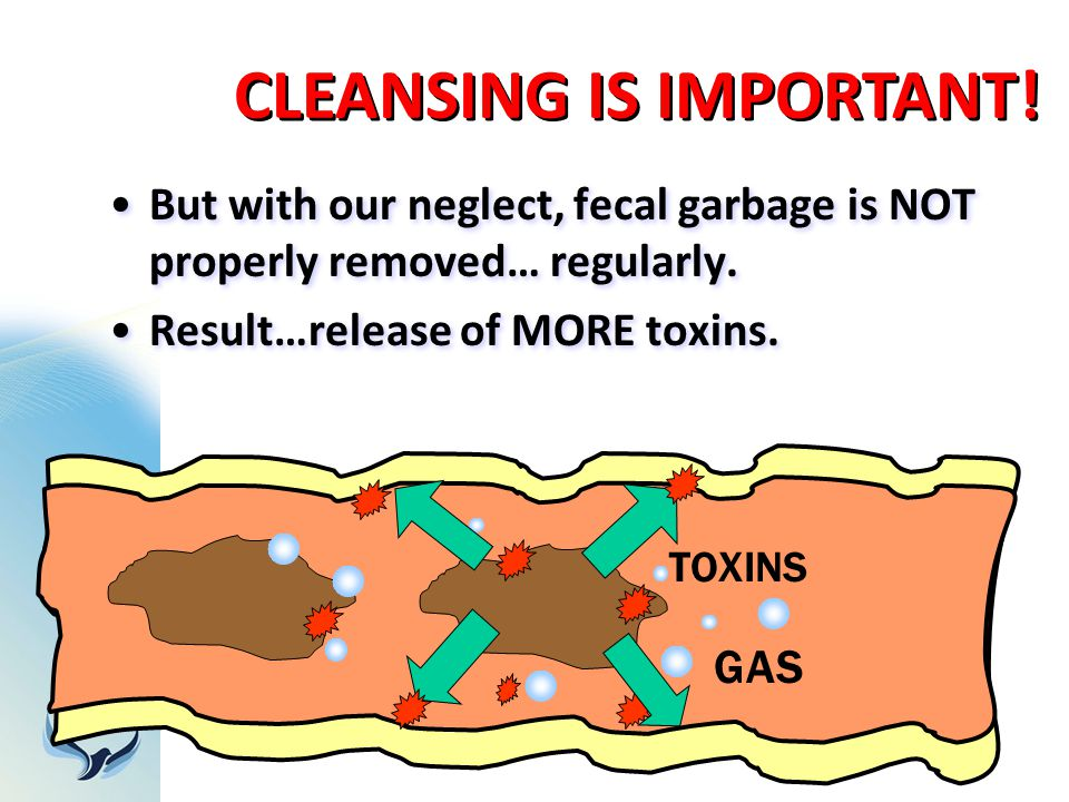But with our neglect, fecal garbage is NOT properly removed… regularly. Result…release of MORE toxins. But with our neglect, fecal garbage is NOT prop