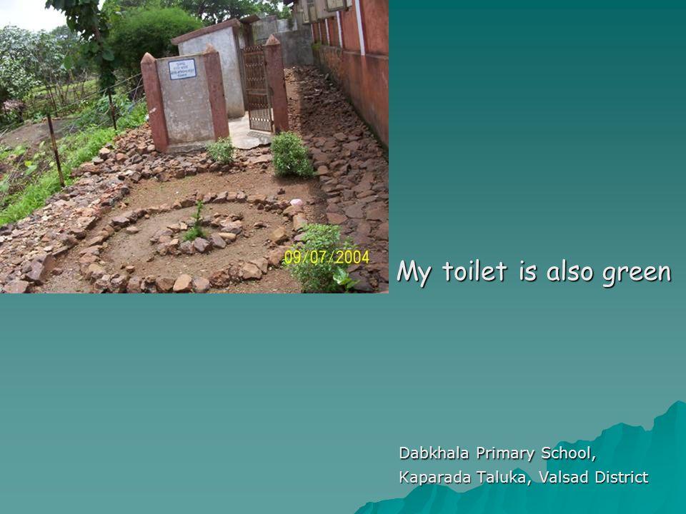 Dabkhala Primary School, Kaparada Taluka, Valsad District My toilet is also green