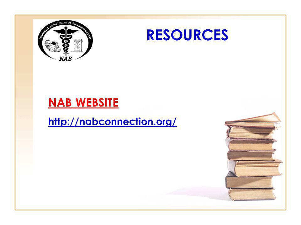 NAB WEBSITE http://nabconnection.org/ RESOURCES