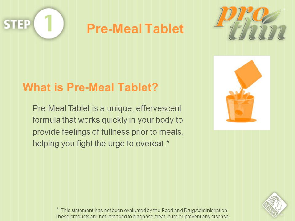 What is Pre-Meal Tablet.