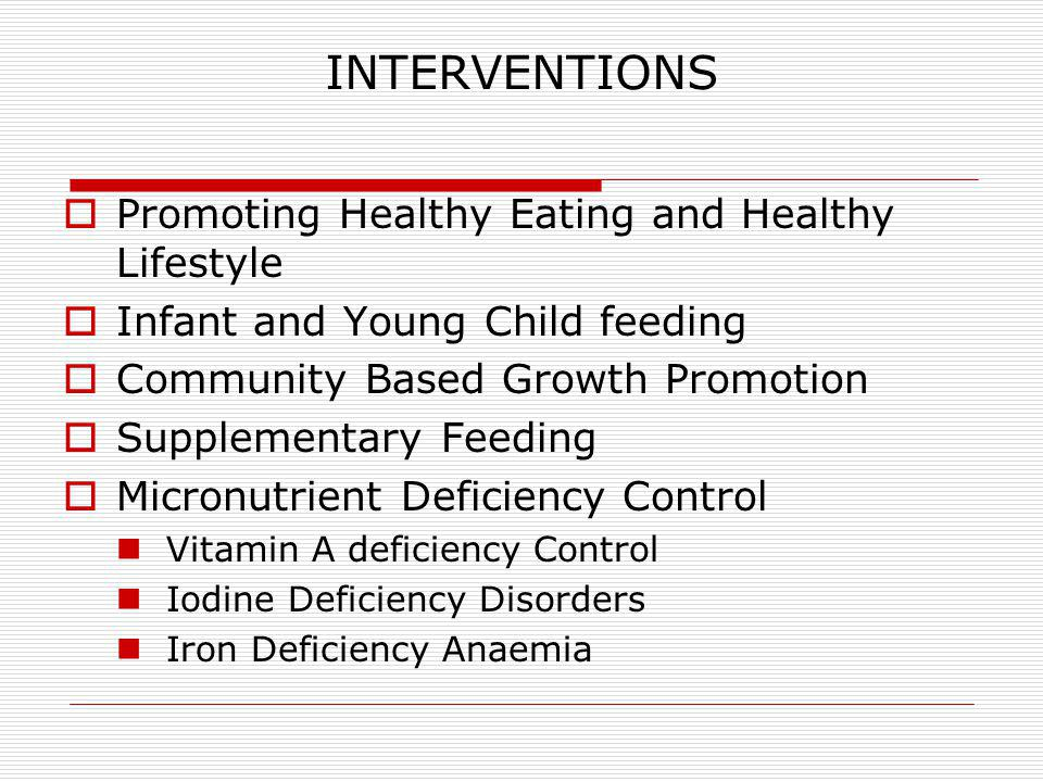 Achievements Vitamin A deficiency control The programme aims to eliminate vitamin A deficiency.