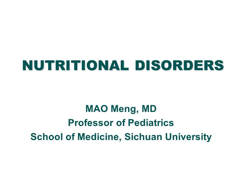 MARASMUS (Infantile Atrophy) MALNUTRITION OBESITY PROTEIN MALNUTRITION [PCM, Protein-Calorie (Energy) Malnutrition, Kwashiorkor] NUTRITIONAL DISORDERS