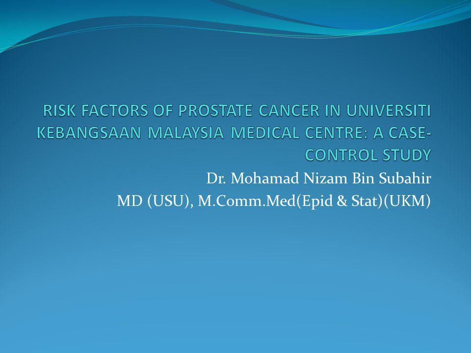 INTRODUCTION Prostate Cancer Distribution Worldwide prostate cancer incidence is 25.3 per 100,000 populations (Nelen V.