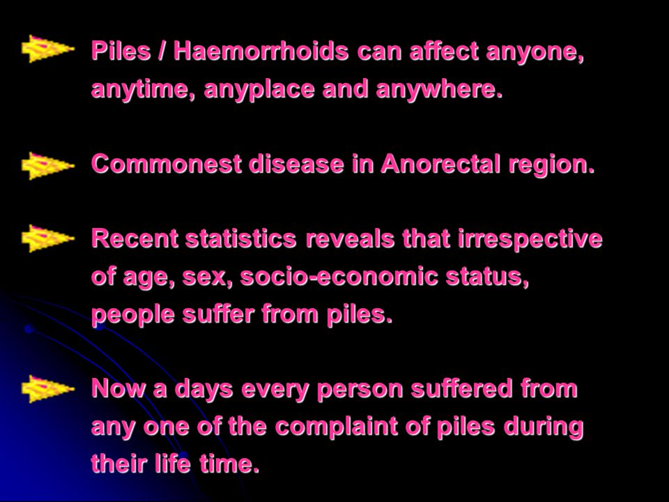 Piles / Haemorrhoids can affect anyone, anytime, anyplace and anywhere.