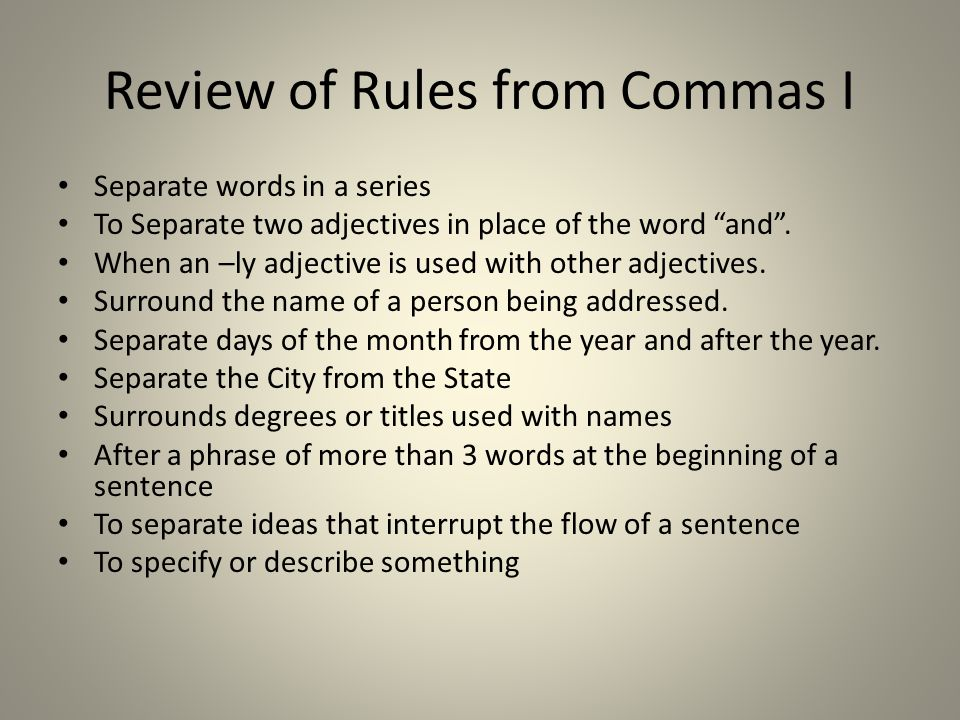 Fixing a Fused Sentence Use a period Use a semi-colon Use a coordinating conjunction Use an independent marker word