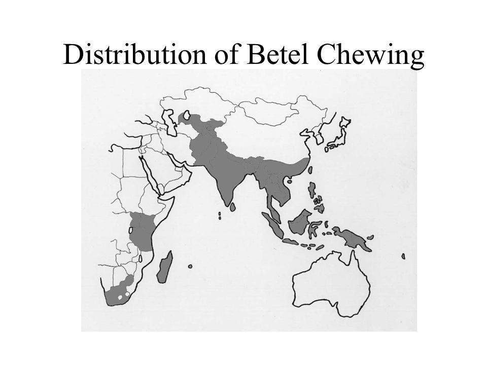 Distribution of Betel Chewing