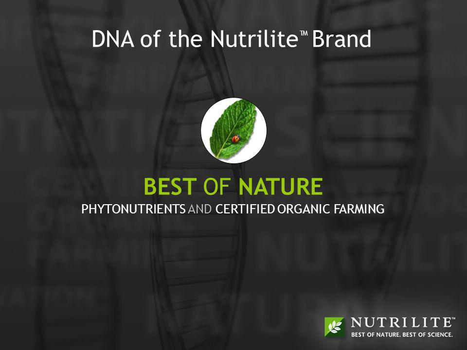 BEST OF NATURE + BEST OF SCIENCE = BEST OF YOU OPTIMAL HEALTH The Nutrilite brands Optimal Health philosophy focuses on: The importance of plant-based diet and good nutrition The importance of supplementation to support good health The importance of exercise, rest, relaxation and positive thinking Understanding lifestyle risk factors Dr.