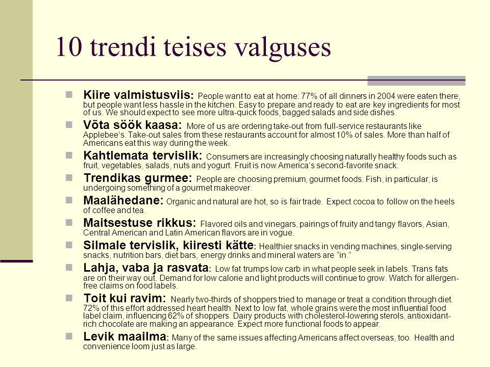 10 trendi teises valguses Kiire valmistusviis : People want to eat at home: 77% of all dinners in 2004 were eaten there, but people want less hassle in the kitchen.