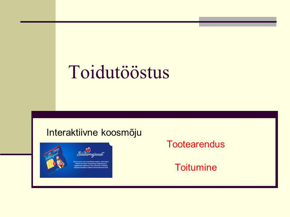Toidutööstus Interaktiivne koosmõju Tootearendus Toitumine