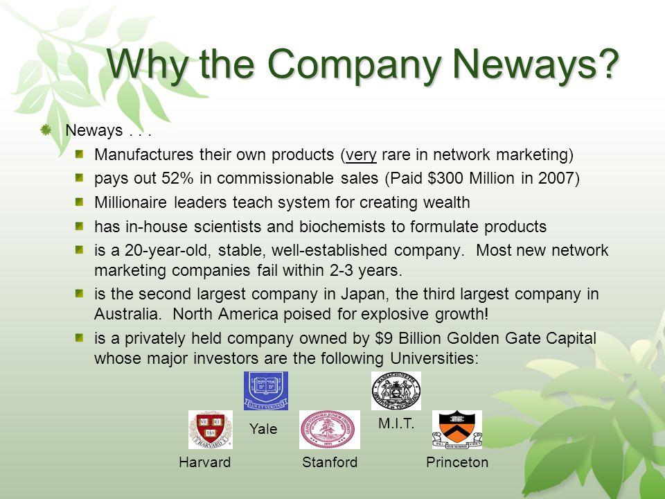 Why the Company Neways. Neways...