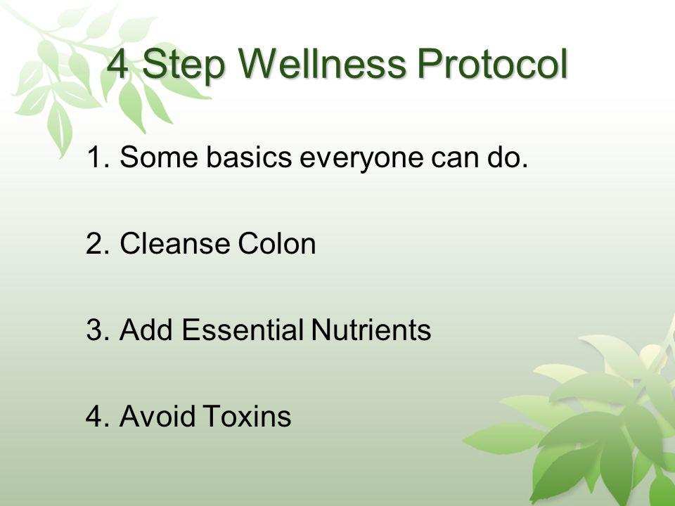 4 Step Wellness Protocol 1.Some basics everyone can do.