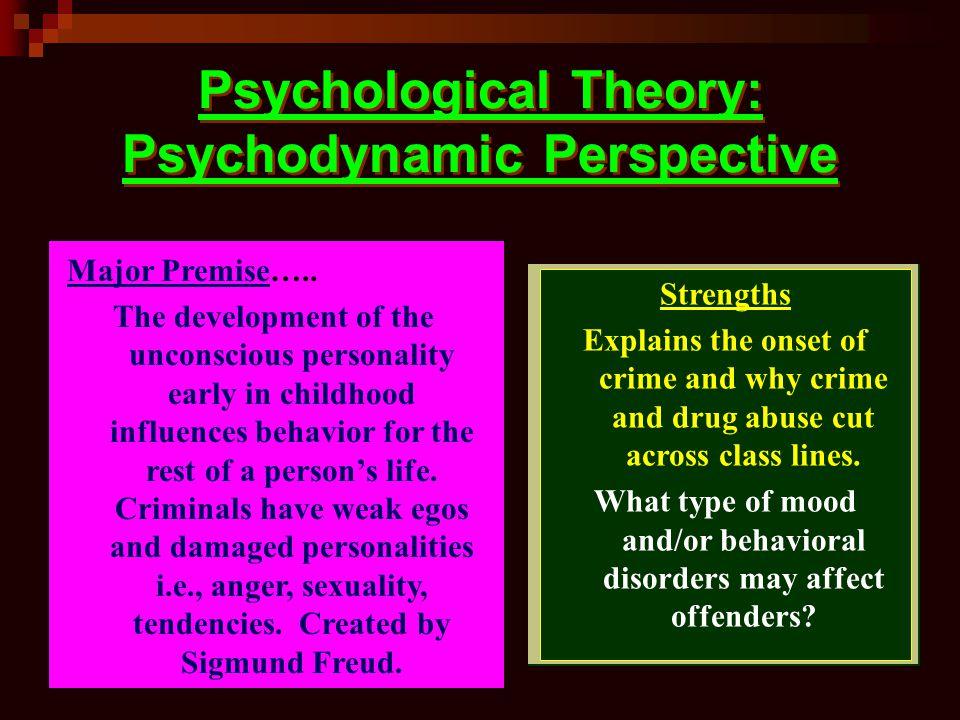Psychological Theory: Psychodynamic Perspective Major Premise…..