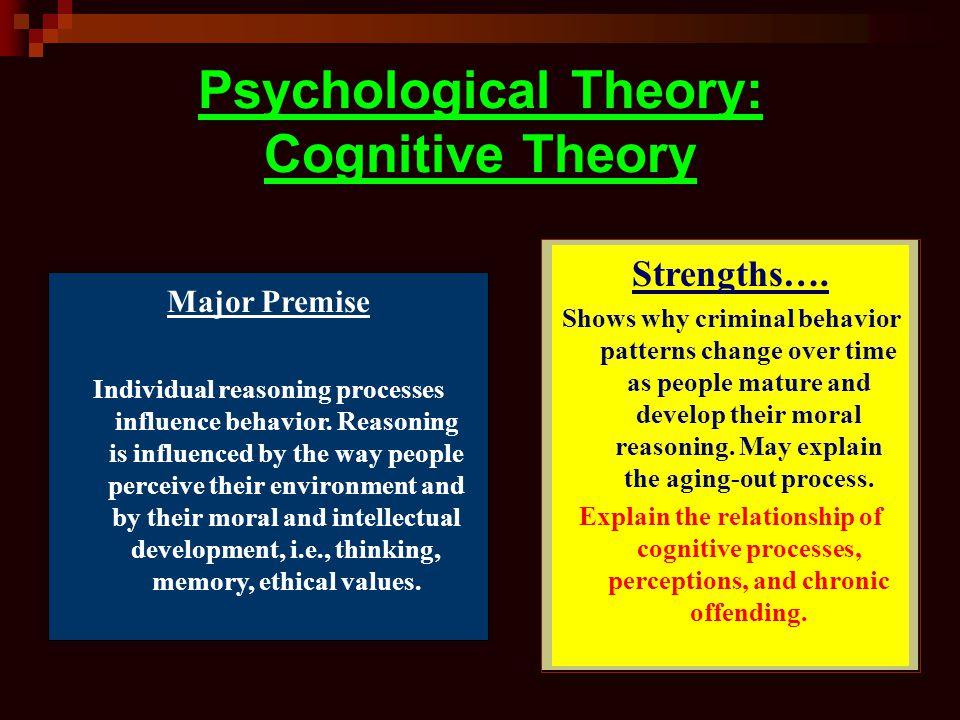 Major Premise Individual reasoning processes influence behavior.