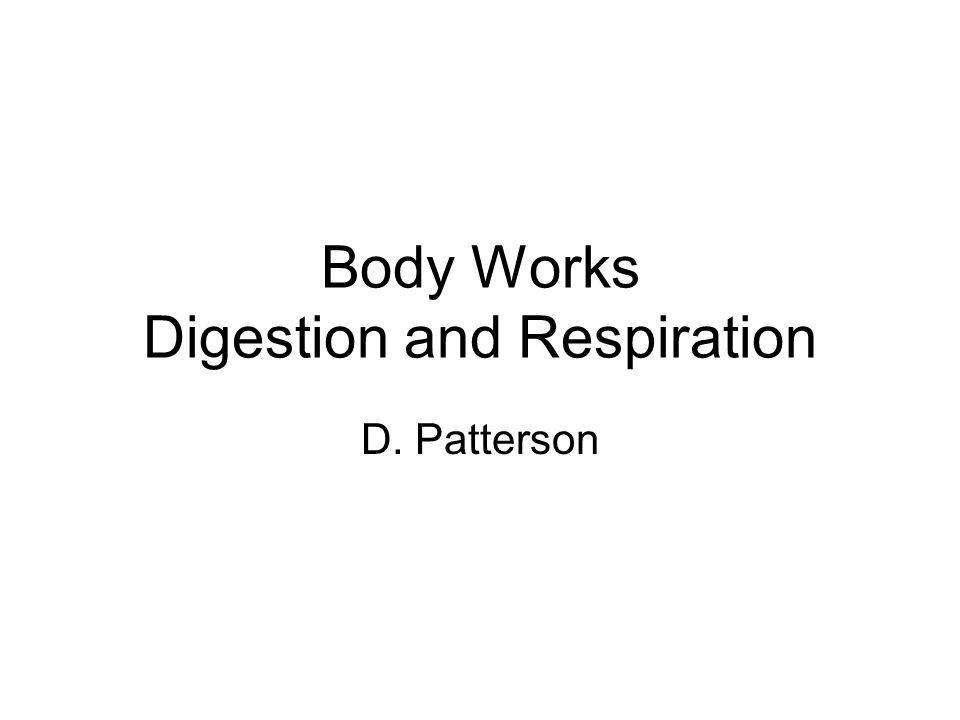 Body Works Digestion and Respiration D. Patterson
