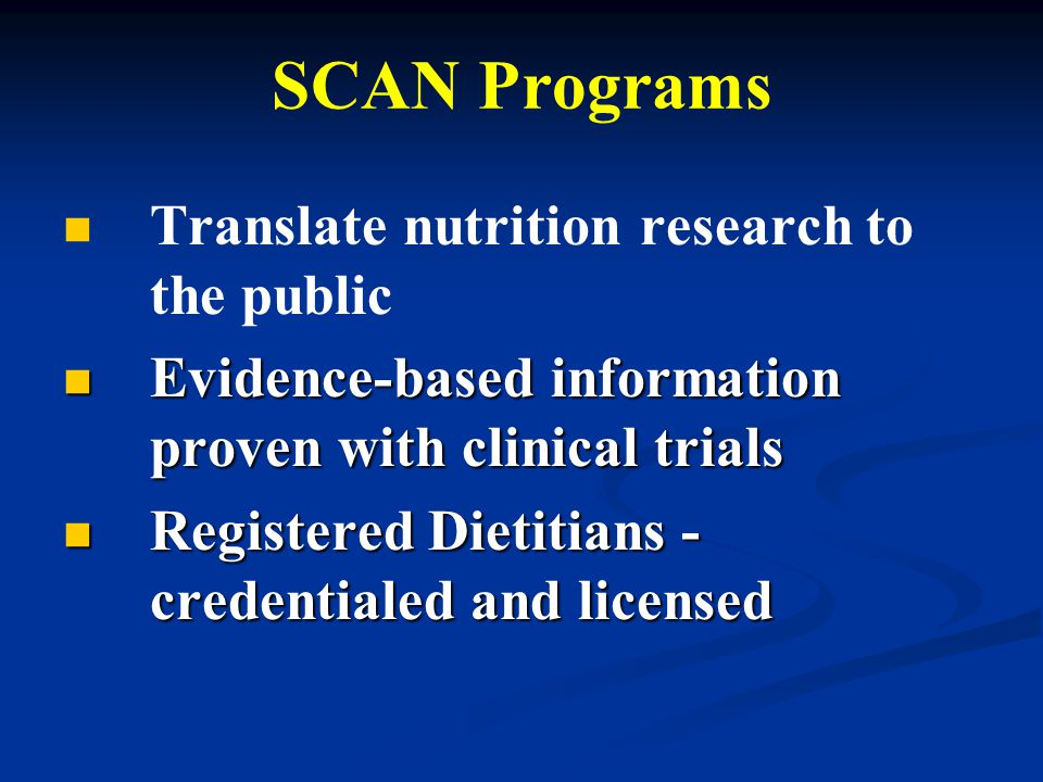SCAN Objectives 1.1. Identifying groups and individuals affected by pollutants for programs 2.