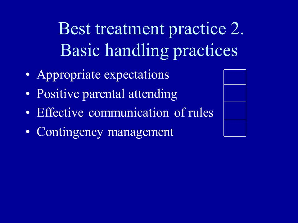 Best treatment practice 2.