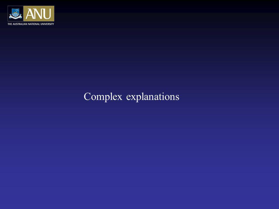 Complex explanations