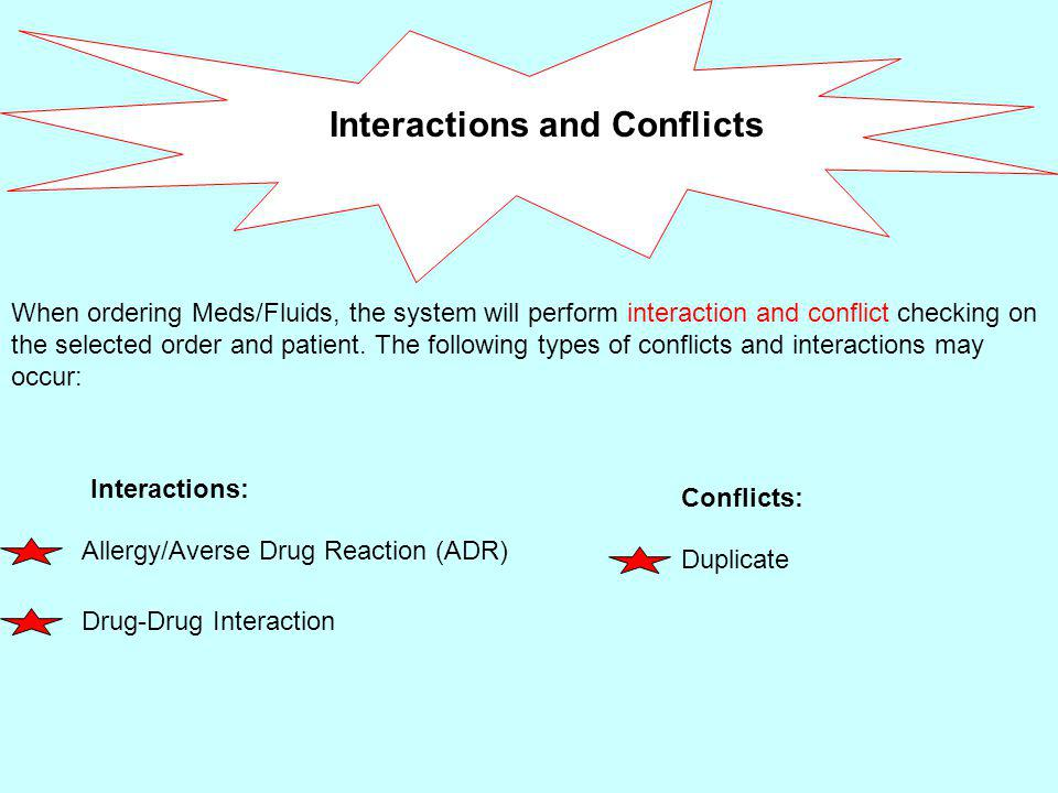 The system will present the user with a Conflict screen like the one below: The type of conflict will display.