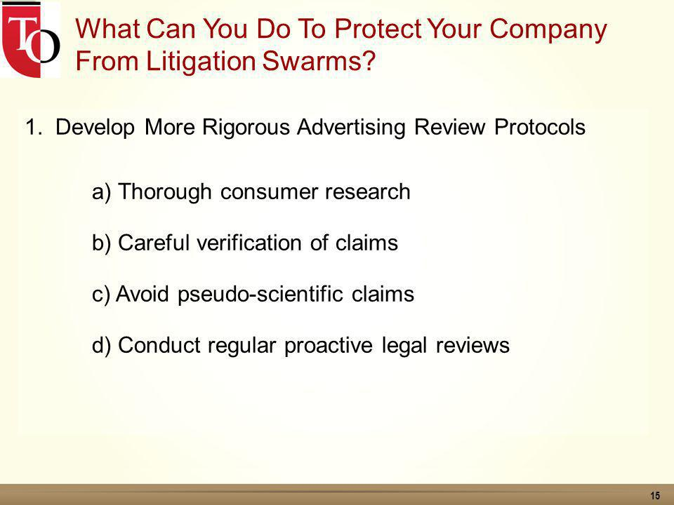15 What Can You Do To Protect Your Company From Litigation Swarms.
