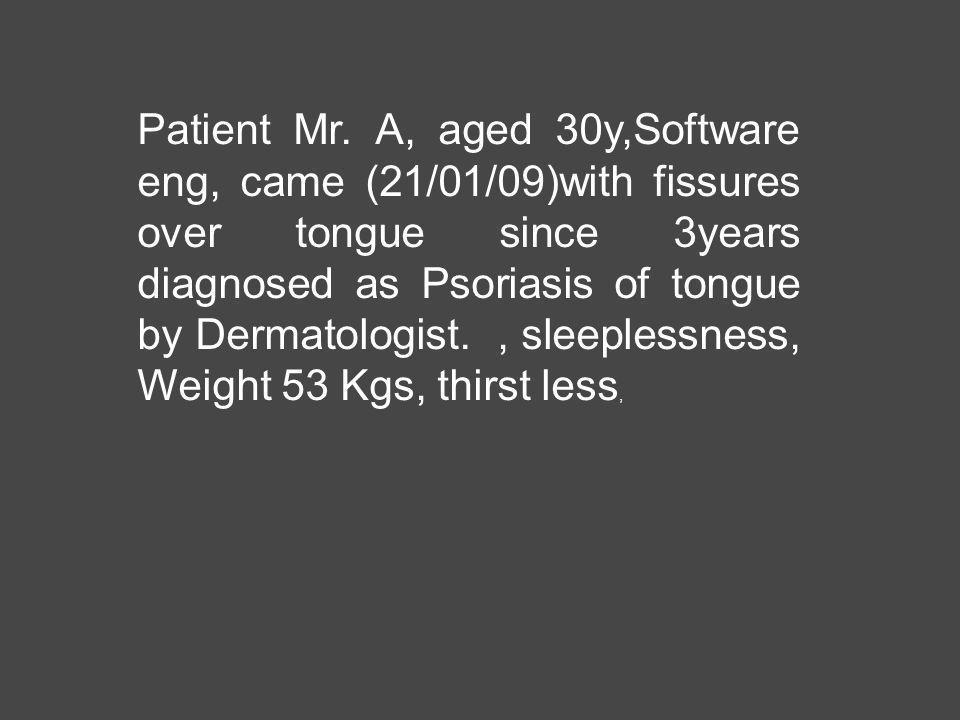 Patient Mr.