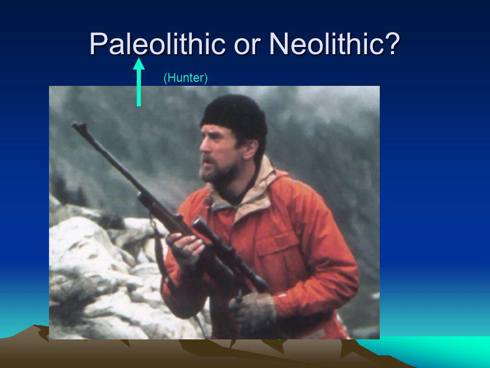 Paleolithic or Neolithic? (Hunter)