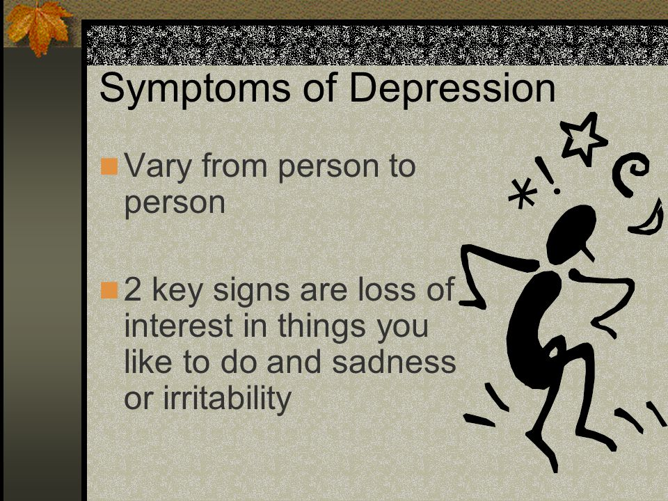 Psychotherapy This can help many depressed people understand themselves and cope with their problems.