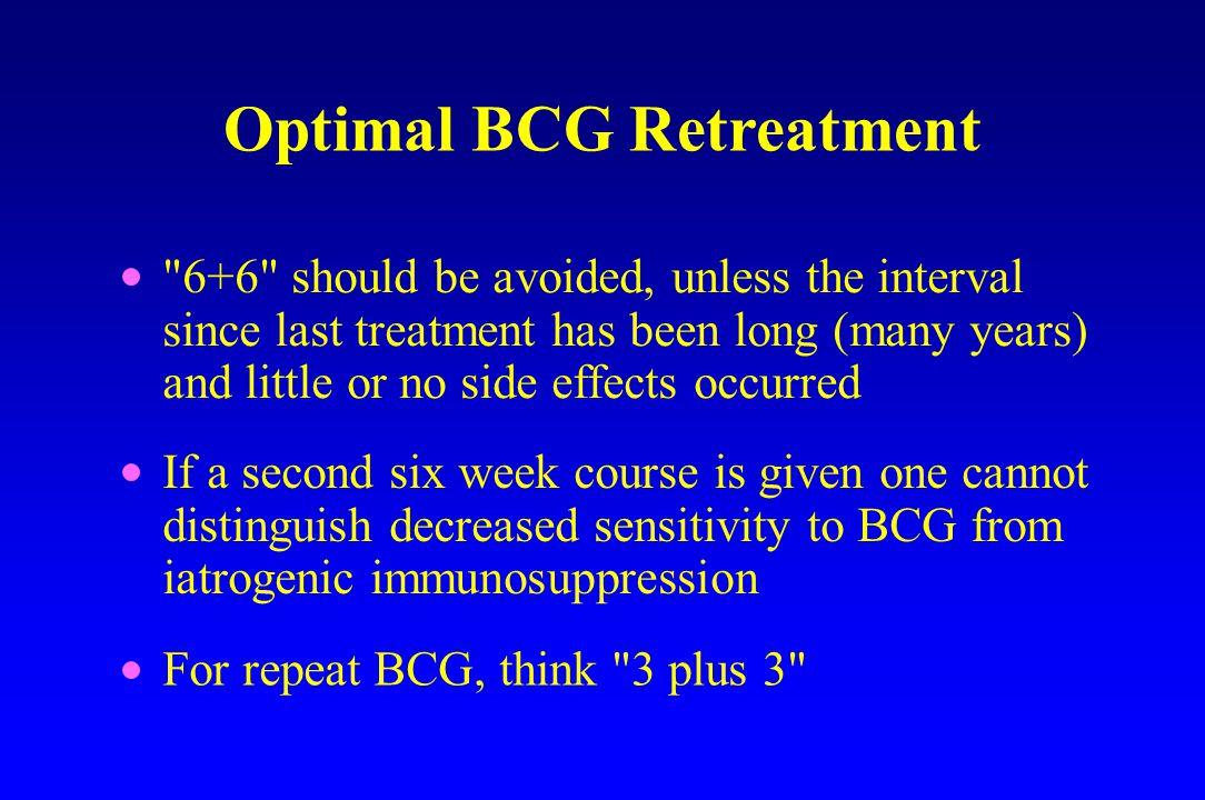 Optimal BCG Retreatment