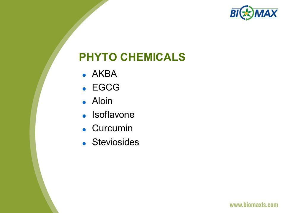 PHYTO CHEMICALS AKBA EGCG Aloin Isoflavone Curcumin Steviosides