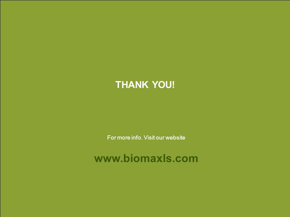 THANK YOU! www.biomaxls.com For more info. Visit our website
