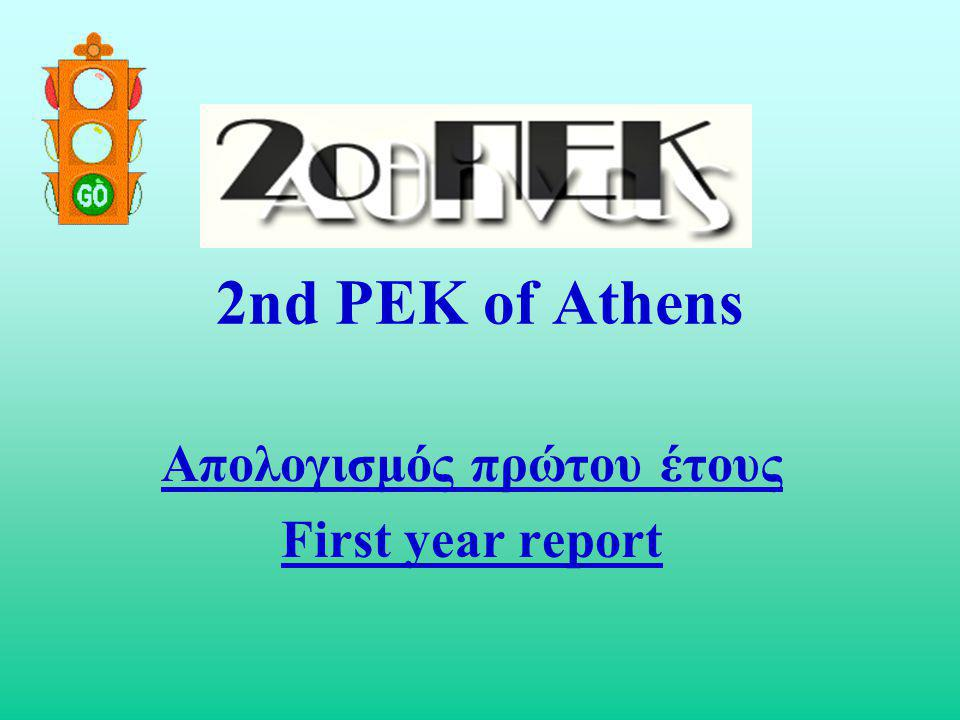 2nd PEK of Athens Απολογισμός πρώτου έτους First year report