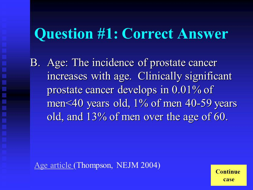 Question #1: Incorrect Answer C.