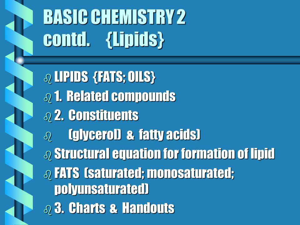 BASIC CHEMISTRY 2 CONTD. {Polysaccharides} b 1. b 1.