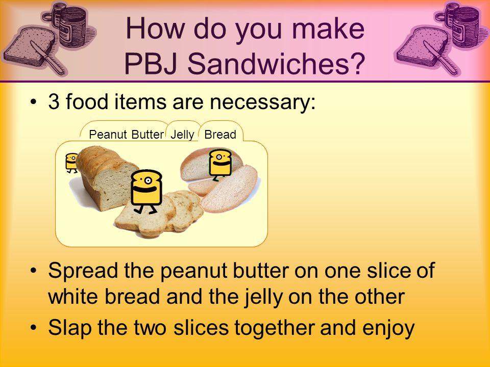 Fluffernutter – Marshmallow crème with peanut butter Peanut substitutes: –Nuttella (Hazelnut spread) –Almonds –Cashews –Soybean –Sunflower Variations of PBJ