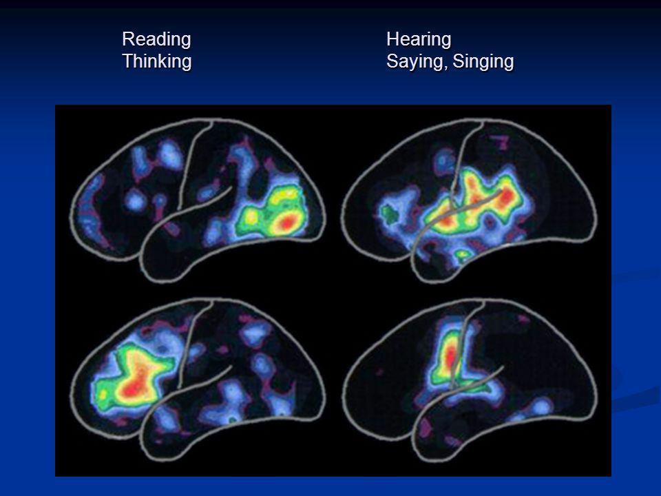 Reading Hearing Thinking Saying, Singing