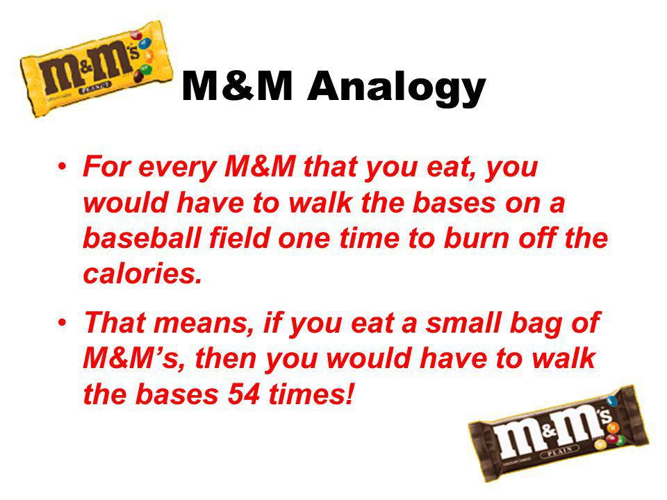 So What About this M&M Stuff.Are you what you eat.