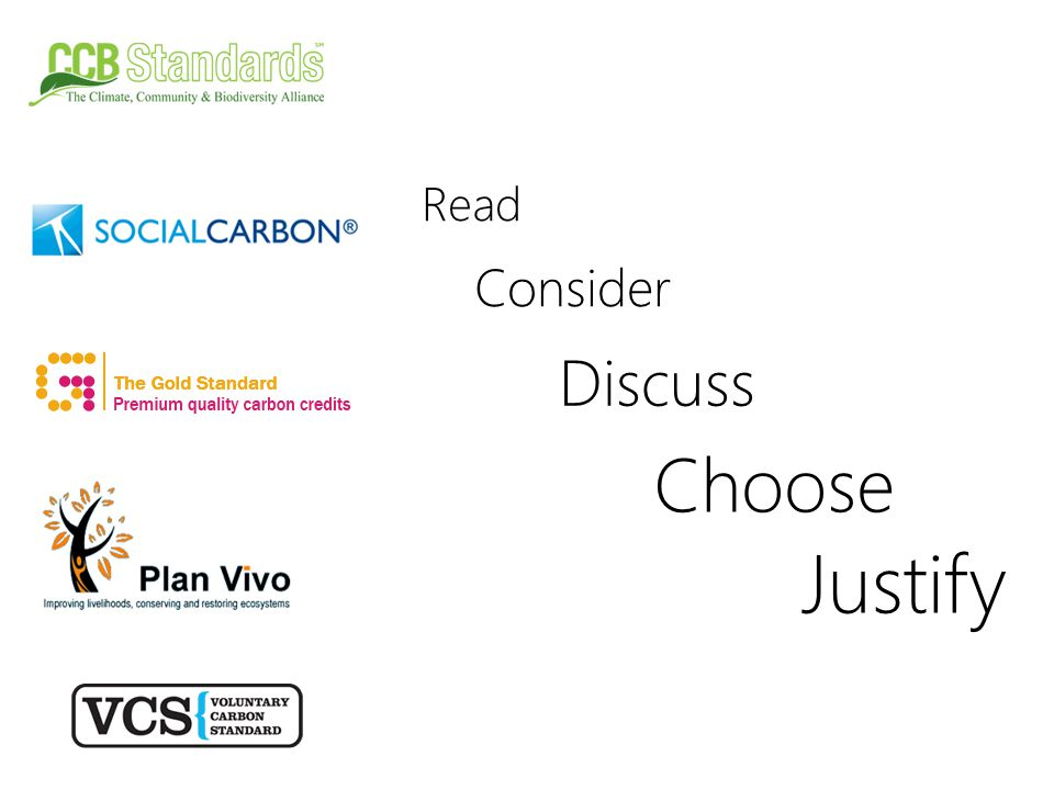 Read Consider Discuss Choose Justify