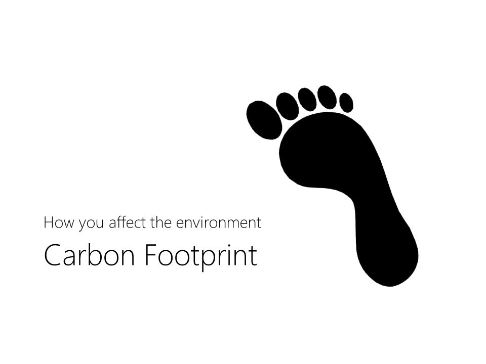 Carbon Footprint How you affect the environment
