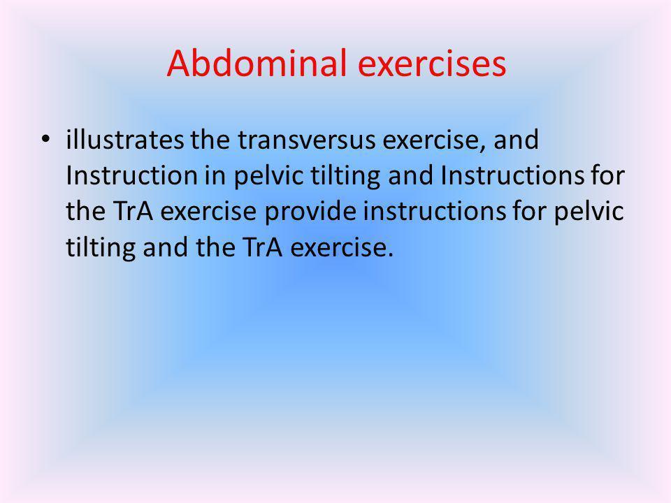 Transversus exercise