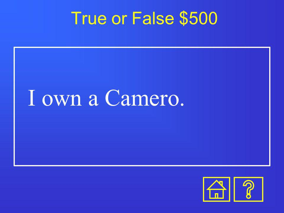 True or False $400 I have been surfing.