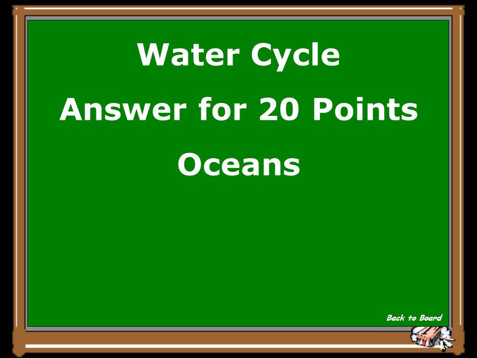 Water Cycle Question for 20 Points Where is the majority of most water stored on Earth? Show Answer