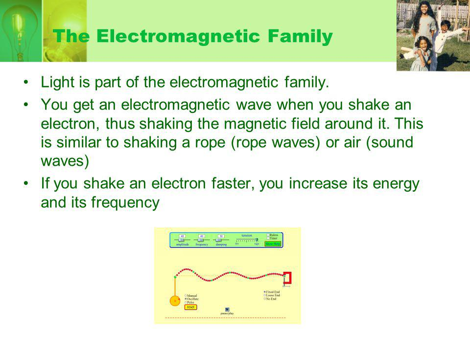 The Electromagnetic Family Light is part of the electromagnetic family.