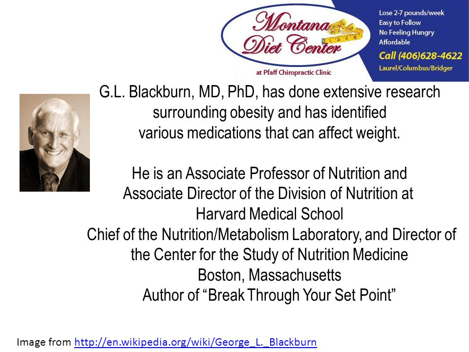 G.L. Blackburn, MD, PhD, has done extensive research surrounding obesity and has identified various medications that can affect weight. He is an Assoc