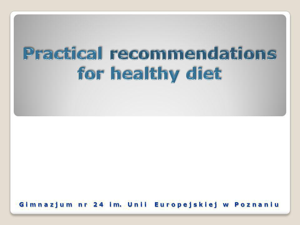 Our conclusions: - products containing more carbohydrates are more and more eaten for breakfast; - soups for dinner are less and less prepared; - there is a significant rise in the fast food consumption; - warm dishes are often and often ordered by the phone in the fast- food shops at home for having supper or dinner (e.g.