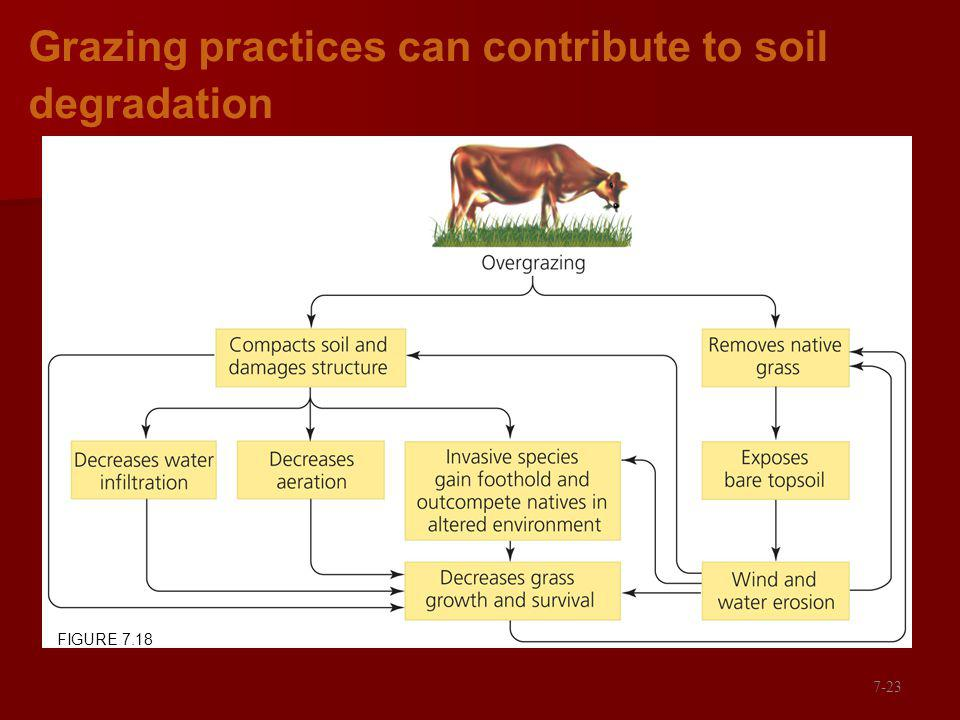 Grazing practices can contribute to soil degradation FIGURE 7.18 7-23