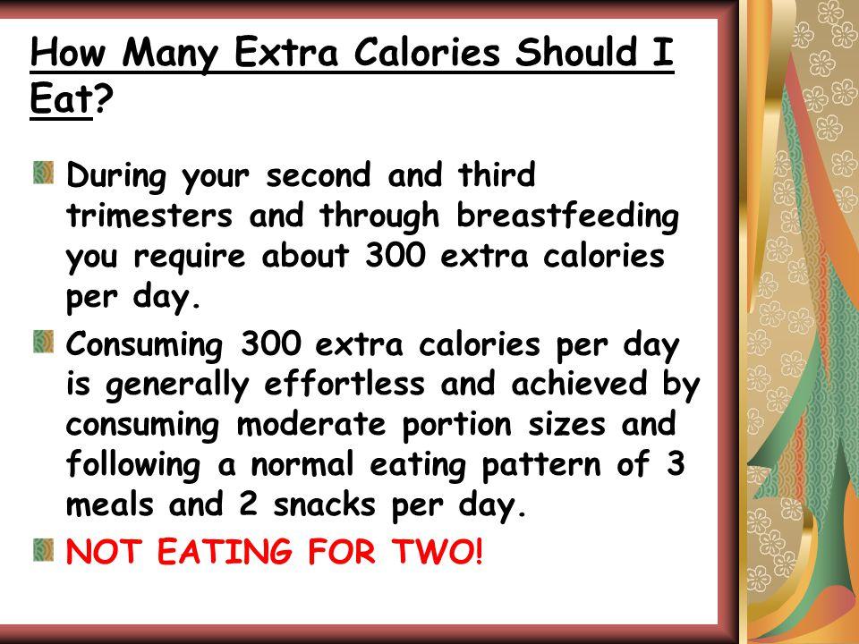 How Many Extra Calories Should I Eat.