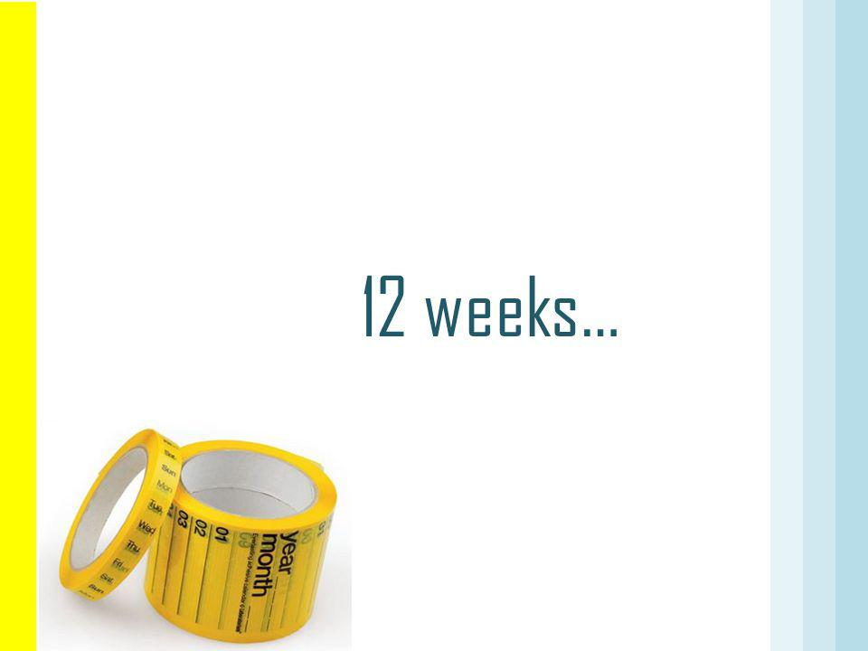 12 weeks…