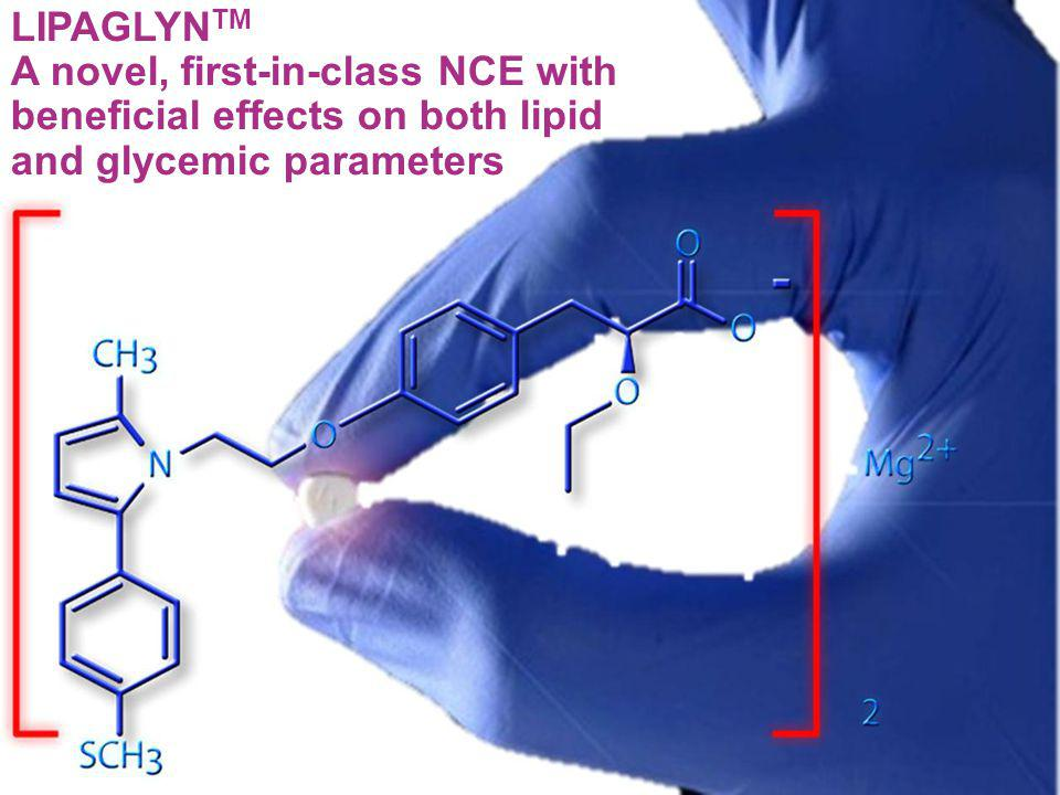 LIPAGLYN TM A novel, first-in-class NCE with beneficial effects on both lipid and glycemic parameters